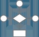 organizational graph workflow icon